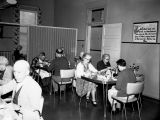 Residents in dining room, Ozanam Nursing Home, Tacoma, Washington, 1962