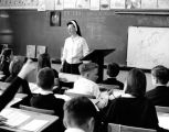 Sr. Lynn Chappell teaching at Holy Family School, Seattle, Washington, ca. 1968