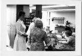 Nurses' station at St. Elizabeth Hospital, Yakima, Washington, ca. 1978