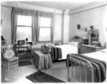 Nursing school dorm room, Columbus Hospital, Great Falls, Montana, 1928
