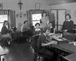 Sewing class, Our Lady of Lourdes Academy, Wallace, Idaho, 1954