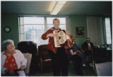 Alaine Qualls playing accordion, Mount St. Joseph, Spokane, Washington, 2007
