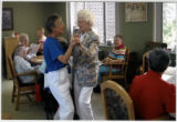 Sisters Margaret Botch and Loretta Marie Marceau dancing, Mount St. Joseph, Spokane, Washington, 2012