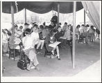 Class held in tent prior to the completion of St. Finbar School, Burbank, California, 1945