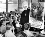 Sr. Charlene Hudon teaching at St. Finbar School, Burbank, California, ca. 1963