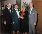 Representatives of Providence High School receiving Fritz B. Burns Foundation grant, Burbank, California, 1991