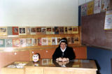 Sr. Mary Eunice, librarian at Catholic Junior High School, Anchorage, Alaska, 1966
