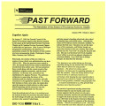 Past Forward, Vol 06 No 03 (Fall 1998)